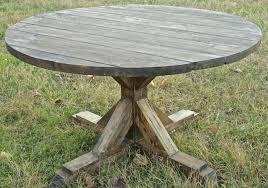 eb ezer round farmhouse table painted polka dot chairs