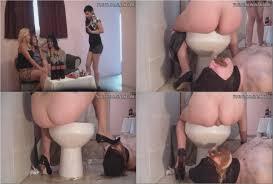 Mature sissy toilet slave