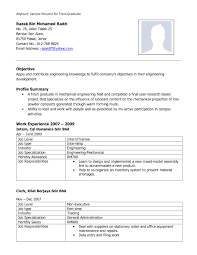 Resume Template Word For Fresh Graduate Refrence Fresh Graduate