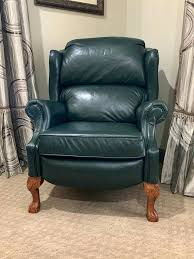 hunter green leather recliner used la z boy leather recliners 2 for in home improvement