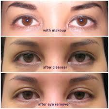 collage of jenn s eye close up 1 wearing eye makeup