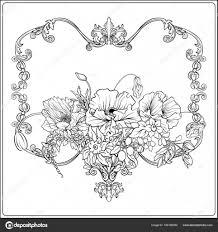 夏の花 ケシ水仙アネモネバイオレット植物の S の ストック