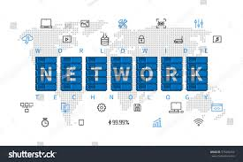 Network Diagram Icons Unique Worldwide Network Technology Vector ...