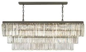 chandeliers rectangular glass drop chandelier for elegant property remodel 85