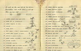 woody guthrie s doodle filled list of new year s resolutions  you can click the image above to view the list
