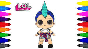 Lol Surprise Doll Punk Boi Coloring Pages For Kids Youtube