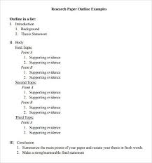 Paper Outline Templates Research Paper Outline Template Presentation Paper Outline