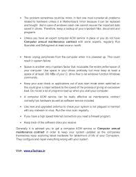Annual Service Contract Format For Computers Maintenance Template In ...