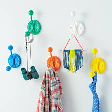great cute coat hook colorful fantastic wall collection art idea dochistum for winter costume rack junior
