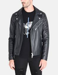 armani exchange asymmetrical leather moto jacket leather for men a x