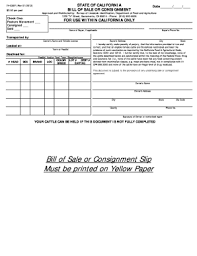 24 Printable Bill Of Sale State Of California Forms And Templates