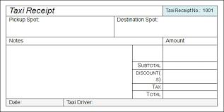 Blank Taxi Receipt Template Mrstefanik Info