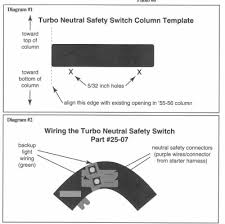 neutral safety switch for a th350 chevytalk restoration here is the template the box around diagram 1 should measure 5 1 2 wide and just under 2 3 4 tall for reference