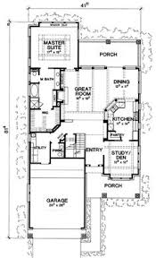 ideas about Narrow Lot House Plans on Pinterest   House    Plan D  Rustic Craftsman Cottage  Narrow Lot House Plans