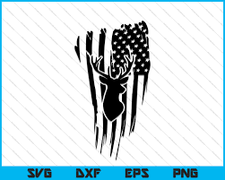 American flag wave usa flag with shadow stars background. Distressed American Flag Hunting Deer Cricut Silhouette Svg Png Files Creativeusart