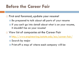 what to do at career fair what to do if you get an interview ppt download