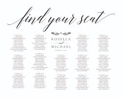 Seating Chart Wedding Sign Wedding Seating Chart Sign Digital File Design Scs 168