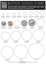 Button Sizing Chart Britex Fabrics
