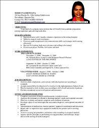 Curriculum Vitae Template Nursing Free Samples Examples