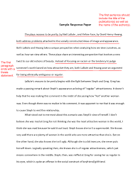 Example Of A Response Essay Write An Effective Response Paper With These Tips