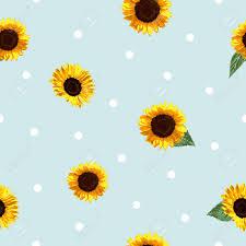 Sunflower Pattern Interesting The Modern Sunflower Vector Pattern Is Using Minimalist Design
