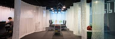 office drapes. A Drapes Gamma\u0027s Office Space With Translucent \u0027fabric Walls\u0027 I