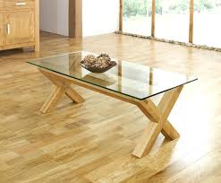 oak glass dining table dining room table glass rectangle glass table top with oak wooden legs
