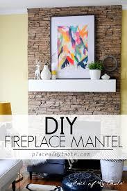 diy fireplace mantel placeofmytaste com