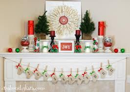 Wall Xmas Decorations Interior Charming Christmas Mantel Decor For Decorating A Holiday
