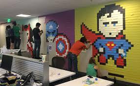Creative office wall art Staff Photo Creative Agency Staff Installs Superhero Murals On Their Office Walls Art sheep Artsheep Creative Agency Staff Installs Superhero Murals On Their Office