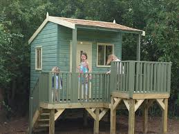 Easy kids tree houses Affordable Kids Tree House Resolve40 Childrens Treehouse Treehouses The Playhouse Company