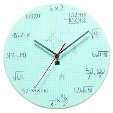 Dci Powder Coated Metal Mathematics Graph Paper Pop Quiz Clock 11 1