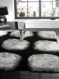 interior black and white rug for minimalist home design