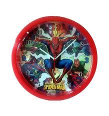 spiderman bedroom clock