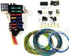 universal wiring harness street rod universal 14 fuse 12 14 circuit wire harness w connectors us made
