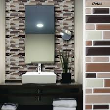 stick on wall tiles diy backsplash and go self adhesive mosaic metal tile