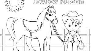 Cowboy Coloring Sheets Revolution History Cowboy Coloring Page