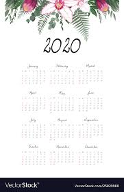 12 Months 2020 Calendar Calendar 2020 Template 12 Months Include Holiday