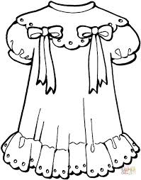 Small Picture Girly Dress coloring page Free Printable Coloring Pages