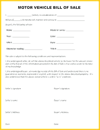 Simple Bill Of Sale For Car Template Used Car Bill Of Sale Form Sold As Is Car Template Sold Car