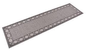 antibacterial gray trellis border skid resistant runner rug 2 x7 rugs groupon