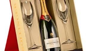 bollinger special cuvee flutes gift set nv 75cl
