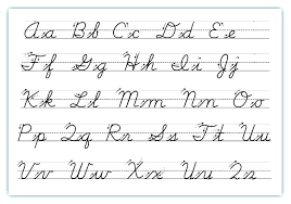 Upper And Lowercase Abc Chart Complete Alphabet Chart Cursive Upper Case Cursive Alphabet
