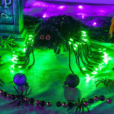 spooky lighting. modren spooky cute halloween decoration idea spooky spider light made by shaping  starburst lighted branches for lighting