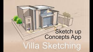 Villa Sketch Design Architecture Sketching Villa Design