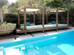 bed poolside bed