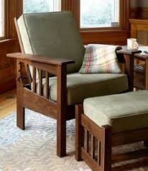morris chair with sage cushion indoor furniture at l