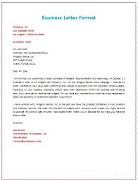 Letter Format 6 Samples Of Business Letter Format To Write A Perfect