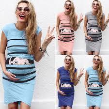 Women's <b>maternity dresses Sleeveless</b> Cartoon Cute Print Dress ...