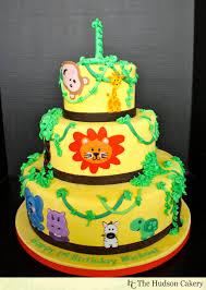 1st Birthday Safari Cake The Hudson Cakery